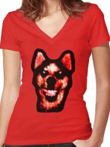Smile Dog (CreepyPasta) Women's Fitted V-Neck T-Shirt
