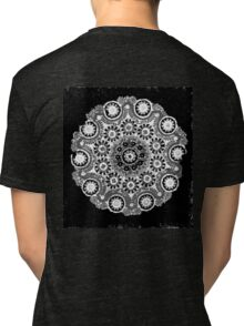 Doily Joy Mandala- Simply B/W Tri-blend T-Shirt