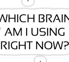 Which Brain black Sticker