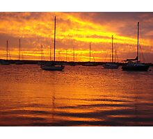Orange Boats Photographic Print