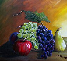 Grapes & Fruit by vilma gonzalez