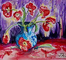 Tulip Tango by Janette  Dengo