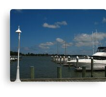 """Lamp Post and Pier"" Canvas Print"