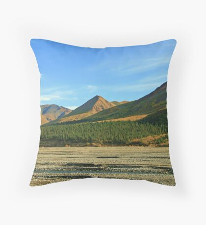 Glacier Bed Throw Pillow