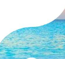 Beach Yin Yang Sticker