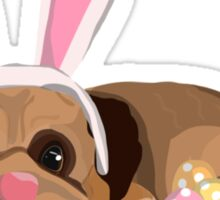 Easter Pug Sticker