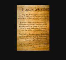 Ezekial 25:17 (Reliced Background) Unisex T-Shirt