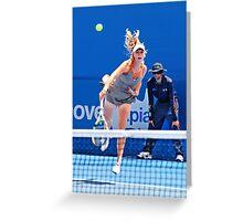Serve (Caroline Wozniacki) Greeting Card