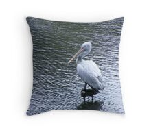 A marvellous bird is the pelican.... Throw Pillow