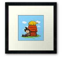 Peanuts Z Framed Print
