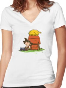 Peanuts Z Women's Fitted V-Neck T-Shirt
