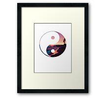 Beach Yin Yang Framed Print