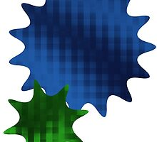 Spike Stars Blue and Green by Endeavored