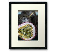 Passionfruit Framed Print