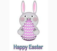 Happy Easter Bunny Rabbit with Easter Egg T-Shirt