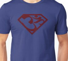 "Superman with ""Om"" symbol Unisex T-Shirt"