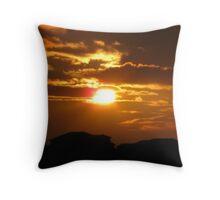 Intense Sunset II Throw Pillow