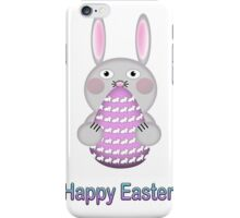 Happy Easter Bunny Rabbit with Easter Egg iPhone Case/Skin