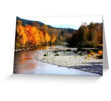 Fall color on the river Greeting Card