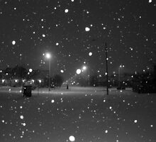 Snowy Night by Southfromnorth