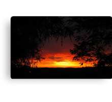 'Fire in the sky! looking across the paddocks. Adelaide Hills. Canvas Print