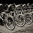 Velibe Bikes, Paris, 2008 by Jerry Carpenter