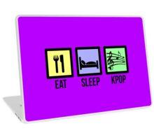 EAT SLEEP KPOP - PURPLE Laptop Skin