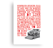 Tale of a Typewriter Canvas Print