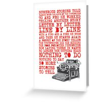 Tale of a Typewriter Greeting Card