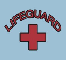 Red Lifeguard Clothing Tee One Piece - Short Sleeve