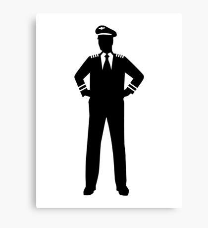 Airline pilot Canvas Print
