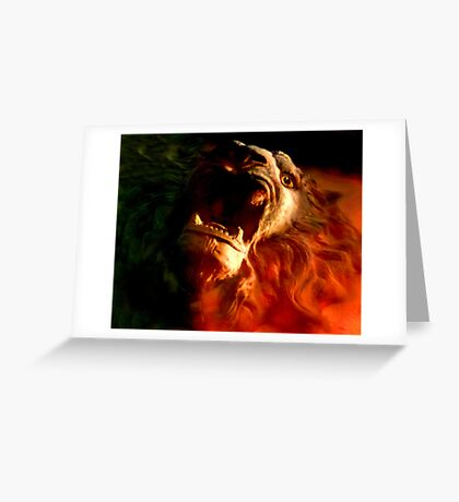 red roar Greeting Card