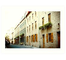 Old Quebec Street Art Print