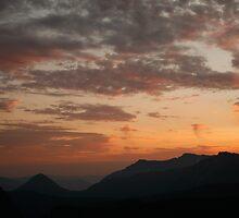Sunset over Mountains by Olga Zvereva