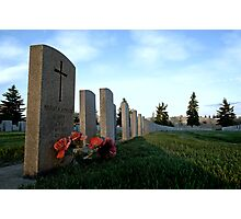 Twilight For Fallen Soldiers Photographic Print