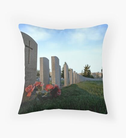Twilight For Fallen Soldiers Throw Pillow