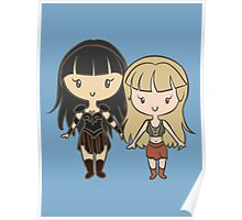 Xena & Gabrielle - Lil' CutiEs Poster