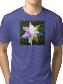 Pinwheel Children's toy photo Tri-blend T-Shirt