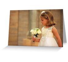 Flowergirl Greeting Card