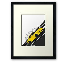 Mazda RX7 FD - Rotary Power (Yellow) Framed Print