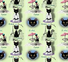 French Kitty Collage by Carol Vega