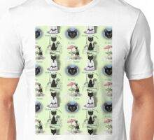 French Kitty Collage Unisex T-Shirt