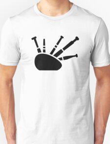 Black bagpipe T-Shirt
