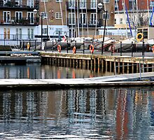 Reflections at Millwall Docks by Dave Law
