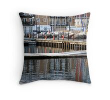 Reflections at Millwall Docks Throw Pillow