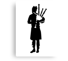 Bagpipe player Canvas Print