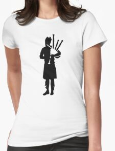 Bagpipe player Womens Fitted T-Shirt