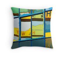 Harland & Wolff Cranes, Titanic Quarter, Belfast Throw Pillow