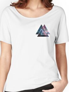 Galaxy Nebula Triangle Design by Suede Apparel Women's Relaxed Fit T-Shirt