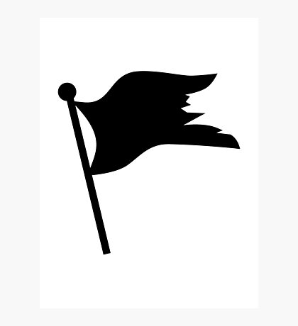 Black pirate flag Photographic Print